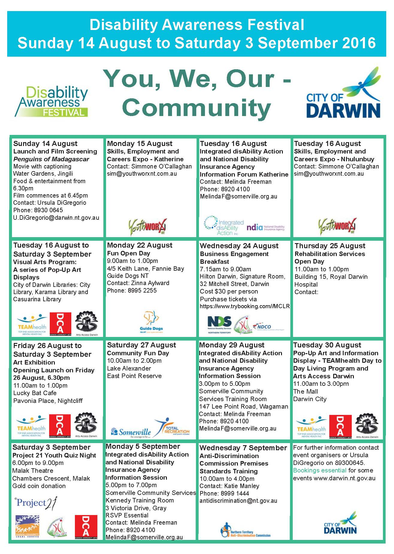 2016 Disability Awareness Festival City of Darwin