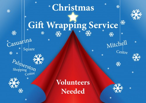 Somerville gift wrapping services offered at Casuarina Square, Palmerston Shopping Centre and Mitchell Centre. Volunteers welcomed.